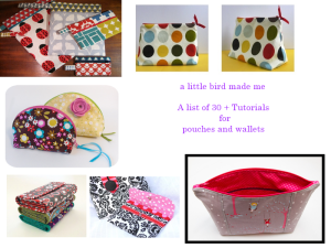 Collage pouches